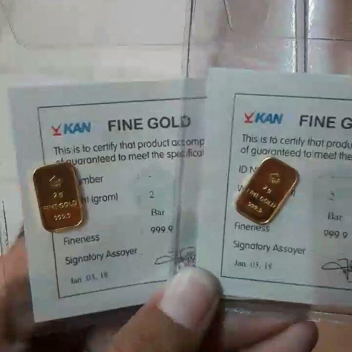 Veneta Indonesia Gorefill Gogreen Emas Batangan 2 Gram Emas 2