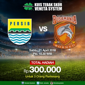 Liga-1-Indo-2018-Persib-VS-Pusmania-borneo-fc-kuis-tebak-skor-tebak-sekor-kuis-online-berhadiah-auang-tunai