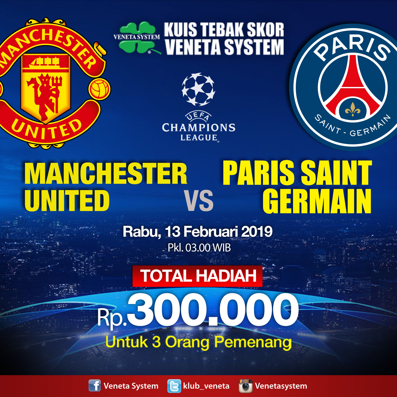 MU VS PSG Cham Leg 13 feb